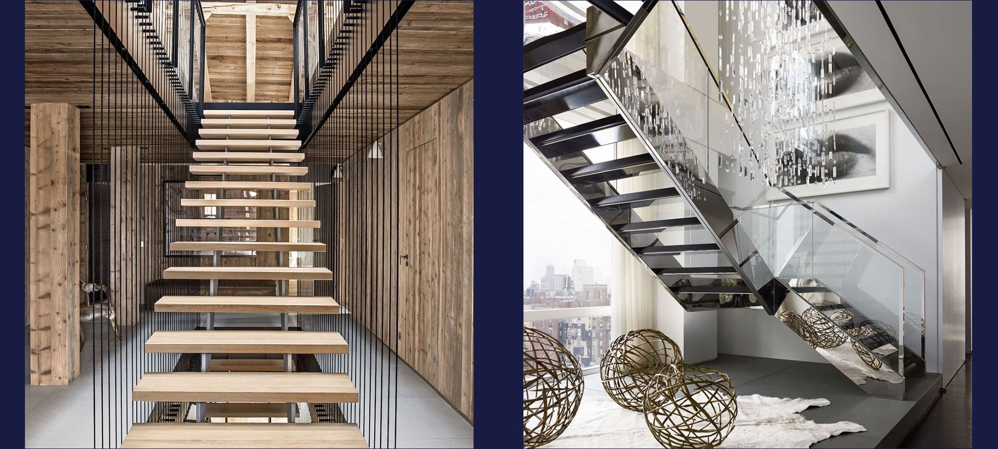 20 Striking Open Stairs Modern Open Staircase Design Ideas   Metal And Wood Stairs   Straight   Diy   Residential   Rustic   Stair Railing