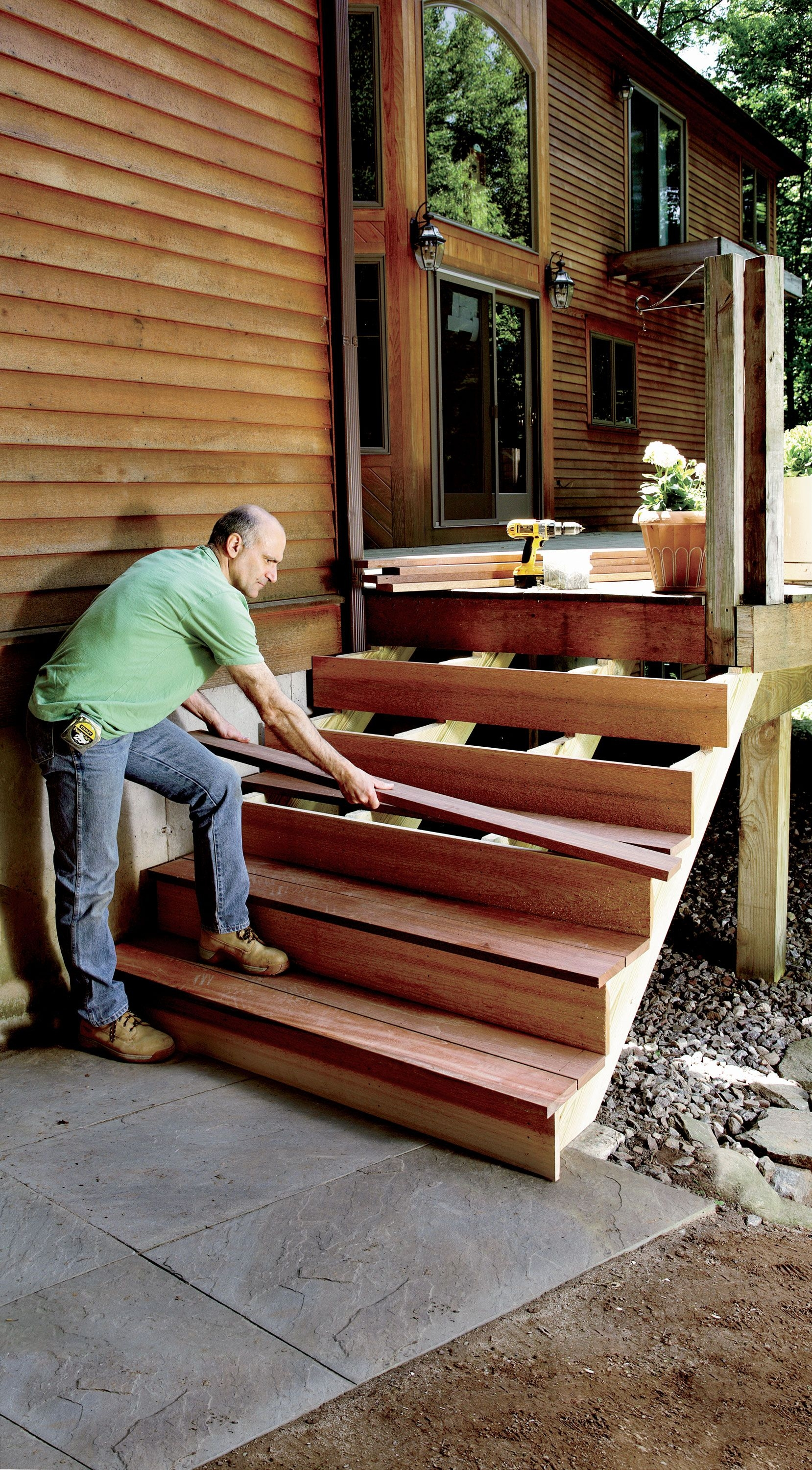 How To Build Stairs Stairs Design Plans | Attaching Wood To Concrete Steps | Composite Decking | Handrail | Staircase | Screws | Deck Stairs