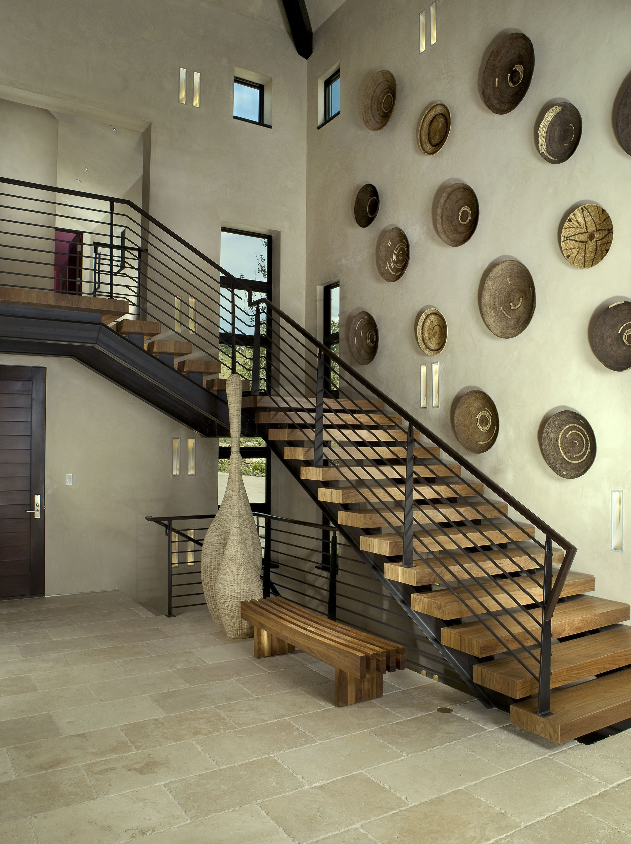 27 Stylish Staircase Decorating Ideas How To Decorate Stairways | Wall Painting Designs For Staircase | Side Wall | Upstairs | Art Staircase | Boy | Creative