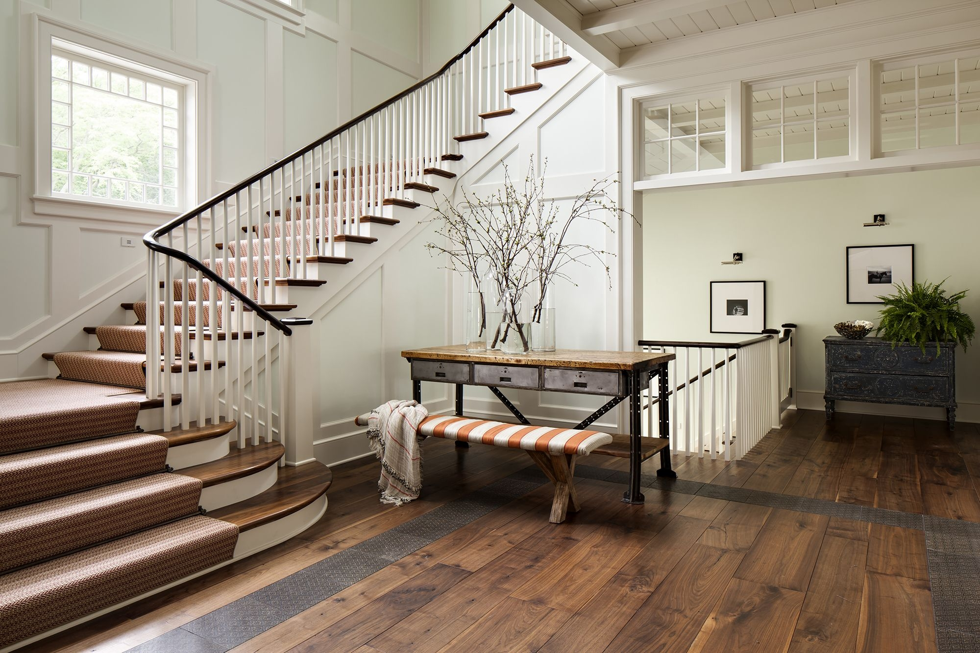 27 Stylish Staircase Decorating Ideas How To Decorate Stairways   Staircase Side Window Designs   Outside Window Frame   Architecture   Small Space   Two Story   Landing
