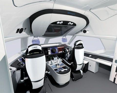 Boeing 787 Dreamliner Cockpit And Interior Of Boeing 787