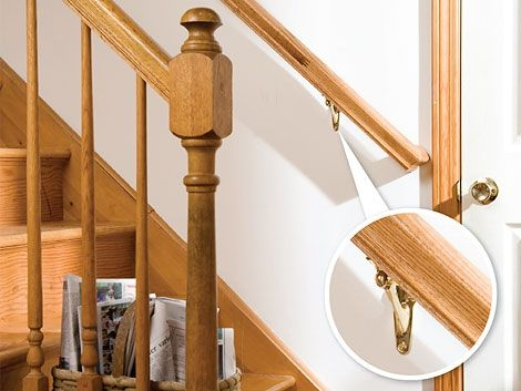 How To Install A Stair Handrail Diy Home | Attaching Handrail To Wall | Stair Parts | Brick | Wood | Staircase | Scr*W