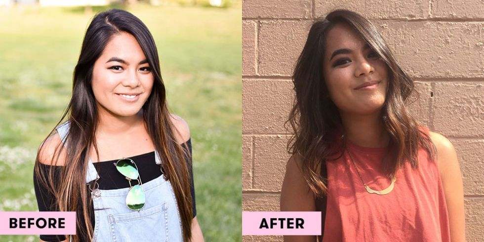 10 Girls Before and After Cutting Their Hair   Short Vs  Long Hair image