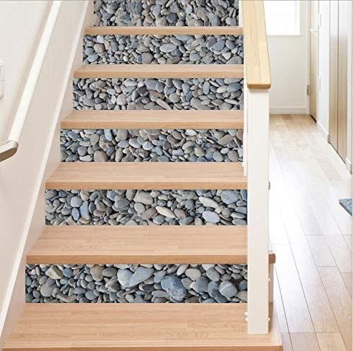 15 Of The Best Staircase Stickers And Tile Decals On Amazon | Tile Risers On Wood Stairs | Stair Tread | Decorative | Wood Finish | Stair Outdoors | Wooden