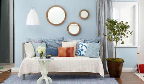 How to Decorate a Small Space with a Daybed at WomansDay com   Small     Any decorating project begins with choosing a color scheme  Paint is the  most versatile  low cost tool you can use to transform the mood of a room