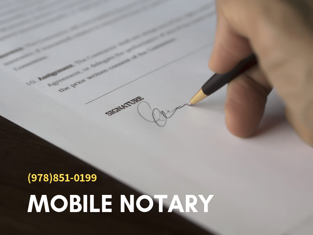 Newton MA Mobile Notary Service