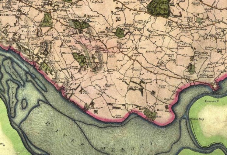 Old Maps for Local History Research   Historic Liverpool Extract from the Greenwood old map of Lancashire  1818