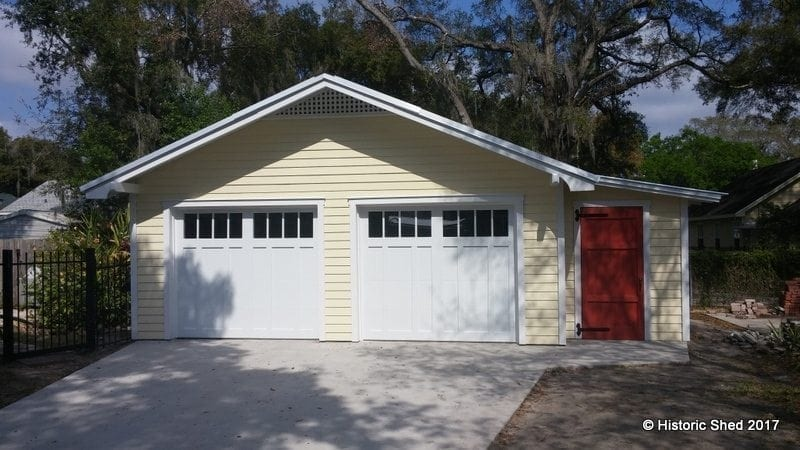 One Car Garages Historic Shed Florida