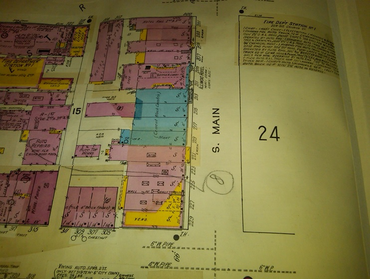 201 S  Main St      Midwest Piggly Wiggley     RPL s Local History S  Main St   200 Block  Odd Numbers of addresses   1928 Sanborn Fire  Insurance Map