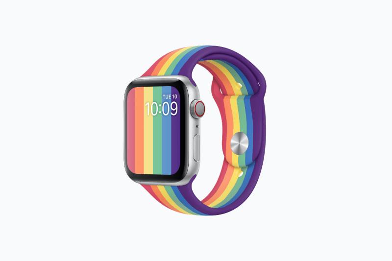 Apple Watch 迎接 Pride Month 推出全新彩虹配色錶帶