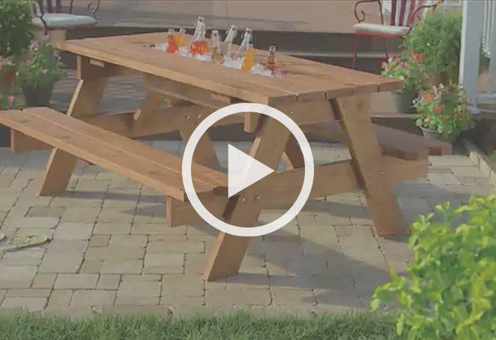 Long Picnic Table Plans