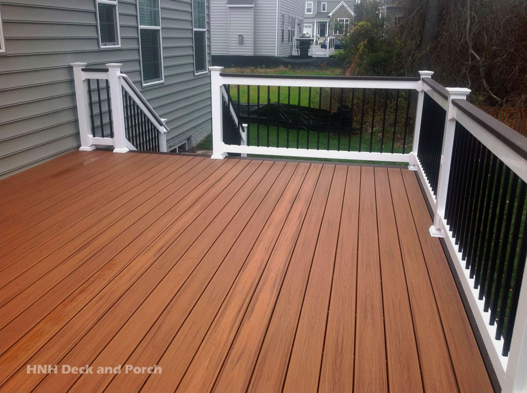 Deck Railing Gallery Hnh Deck And Porch Llc 443 324 5217 | White Railing Black Spindles | Porch | Iron Balusters | Wrought Iron | Porch Railing | Trex Deck