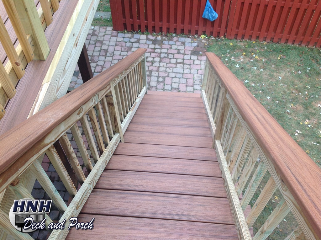 Deck Steps Gallery Hnh Deck And Porch Llc 443 324 5217 | Pressure Treated Stair Handrail | Sturdy | Step | Deck Rail | Long Deck | Treated Lumber