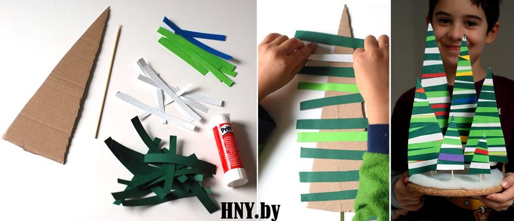 Жаңа жылға арналған шырша: балалармен жаңа жылдық қолөнер жасаңыз