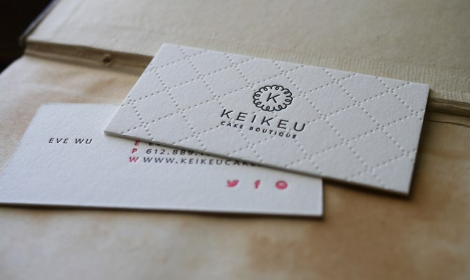 Hoban Press     Custom Letterpress Printing Keikeu Cake Boutique