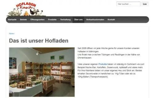 Hofladen Kasch - Automat / Geflügelhof / Hofladen Mähringen