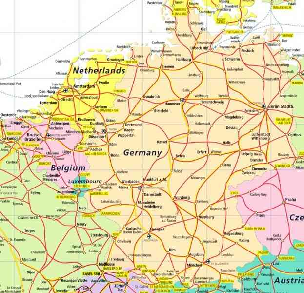 Map Of Germany And Holland.Map Germany And Holland