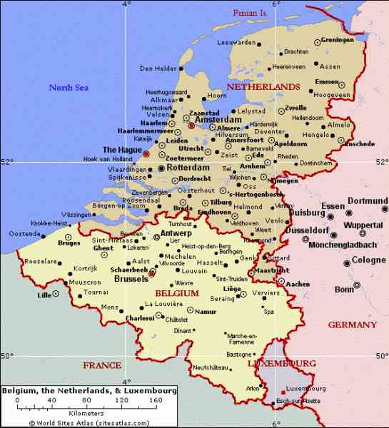 Map Of Holland And Germany.Map Germany Belgium And Holland