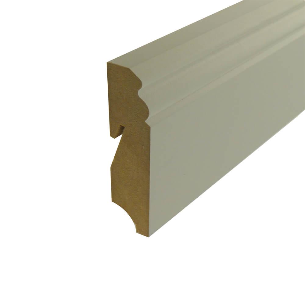 Sockelleiste Hamburger Profil, MDF weiß lackiert, 240 cm A&J Holzzentrum Online-Shop
