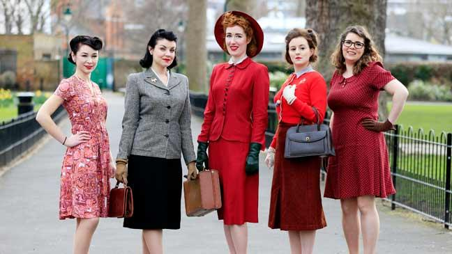 What we d have been wearing during rationing in 1940s Britain   BT Enthusiasts don 1940s era vintage fashion