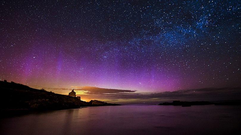 Northern Lights And Stars