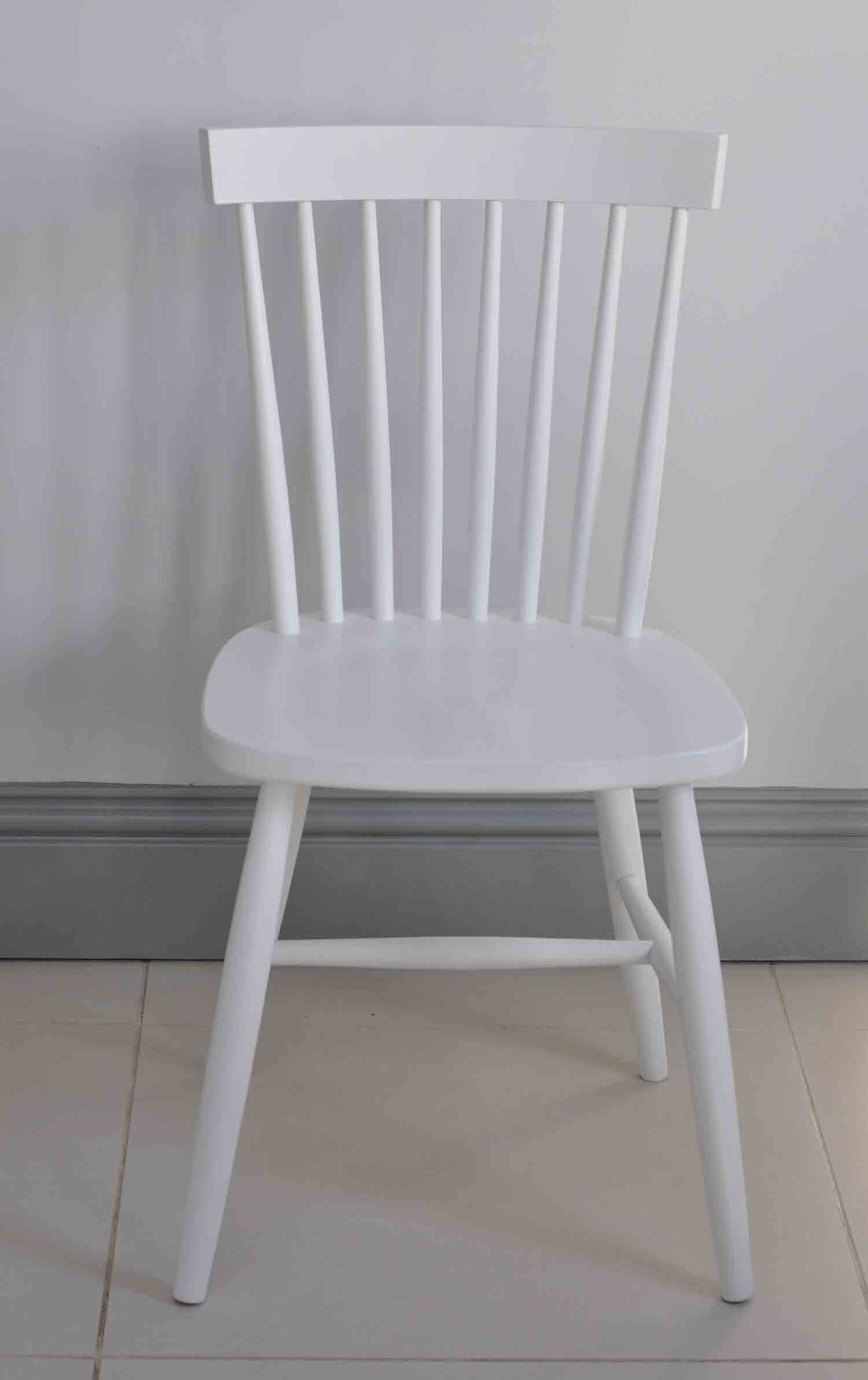 Oxford Spindle Back Dining Chair White Painted Or
