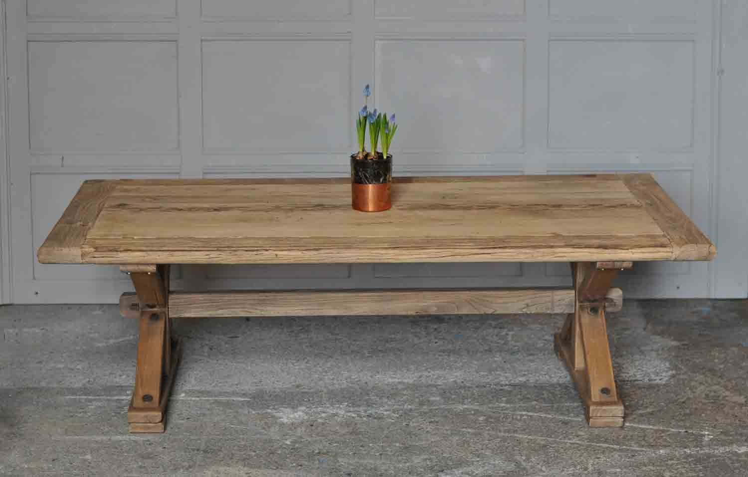 Reclaimed Solid Elm Rustic Coffee Table Home Barn Vintage