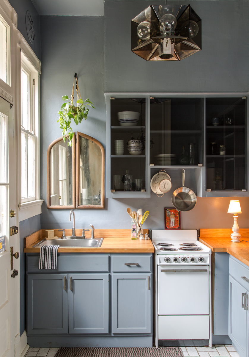 50 Best Small Kitchen Ideas and Designs for 2018 1  Find Serenity With Muted Blues