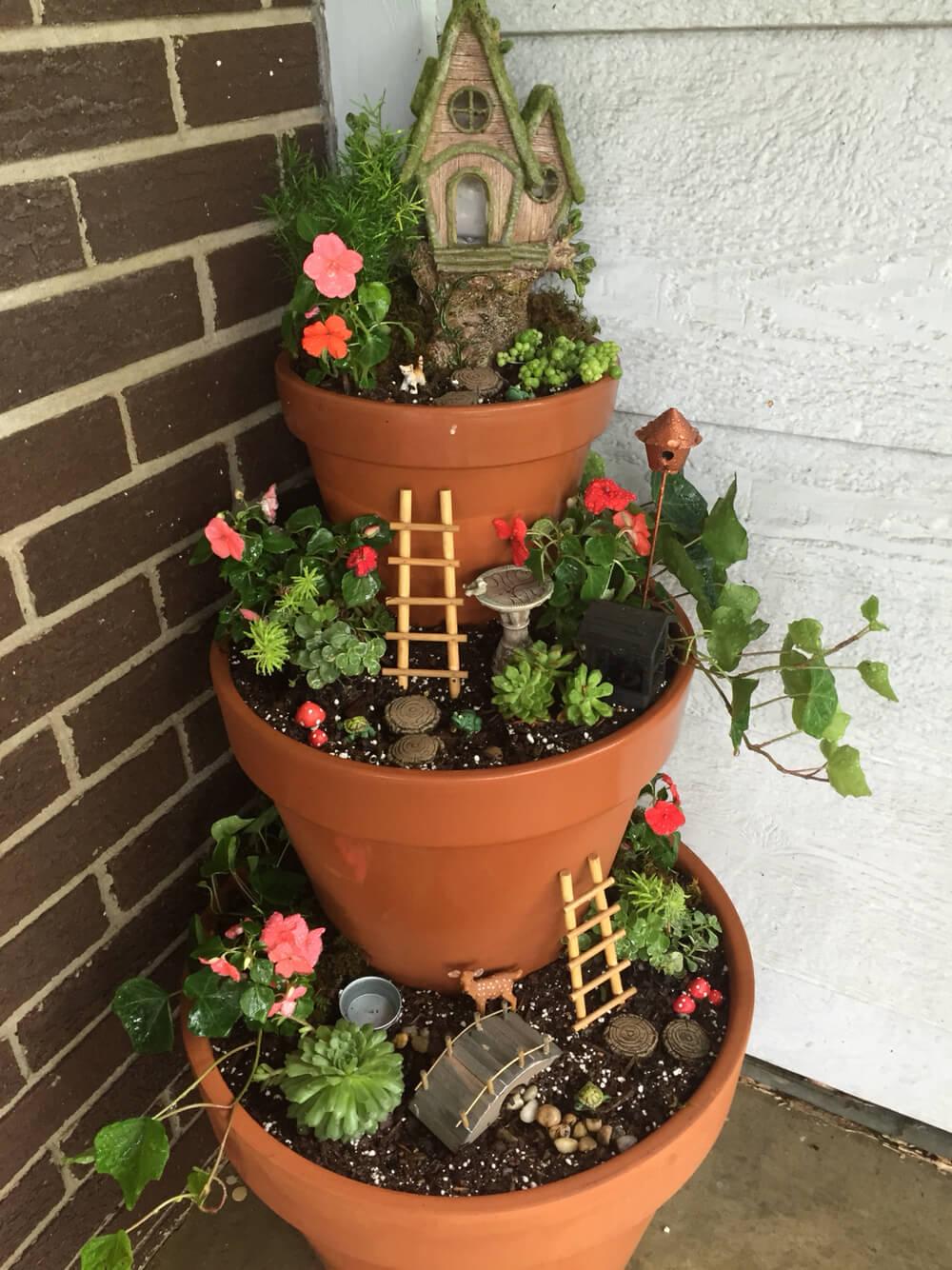 Galvanized Garden Planters