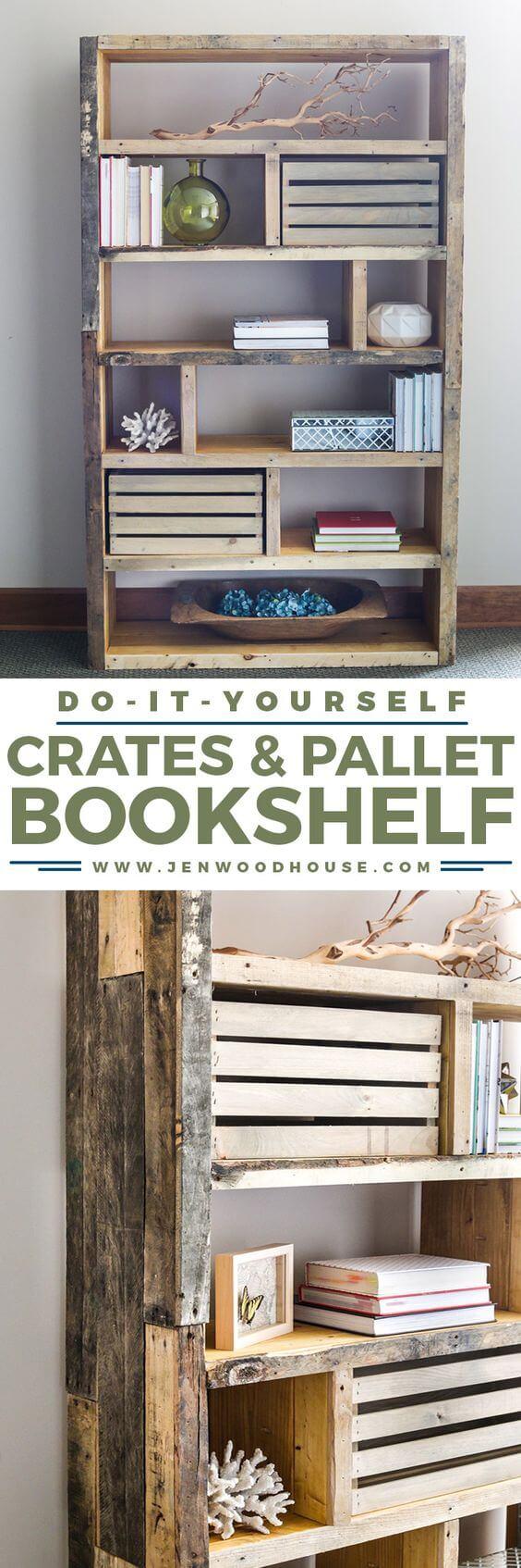 26 Best Diy Bookshelf Ideas And Designs For 2019