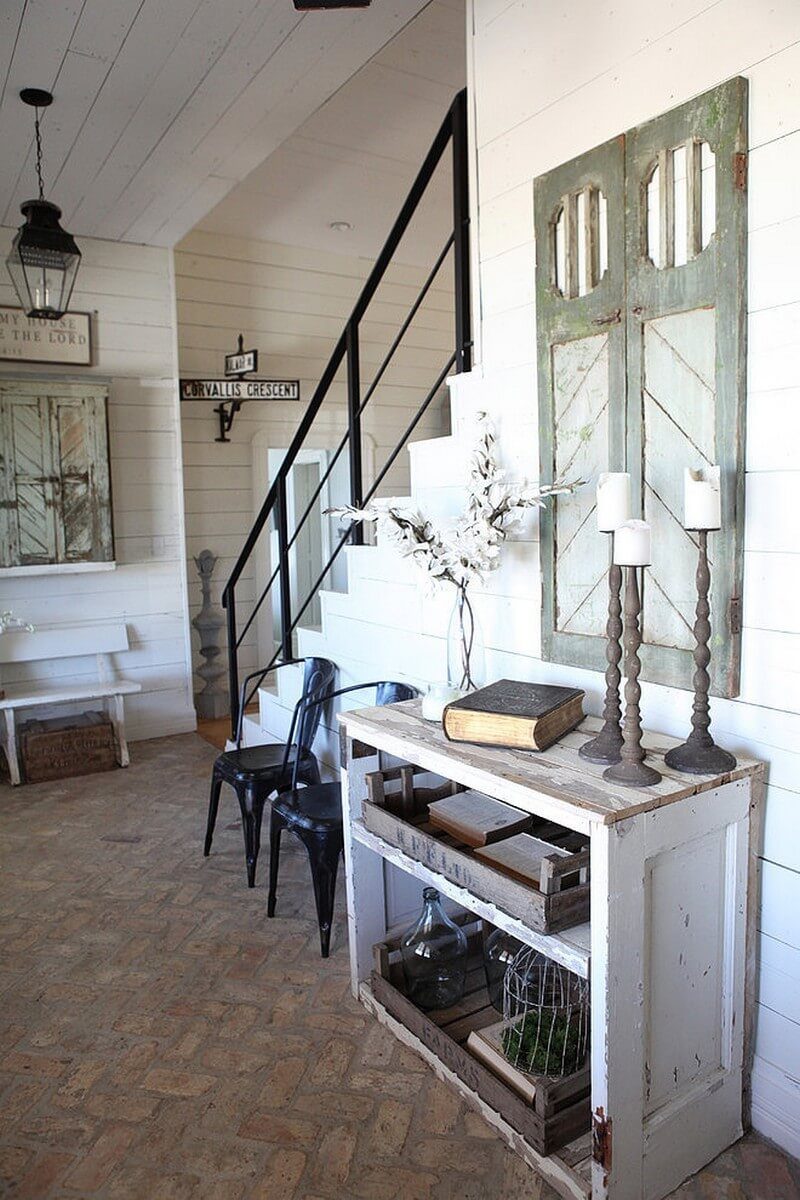 35  Best Farmhouse Interior Ideas and Designs for 2018 Farmhouse Meets Industrial Salvage Look
