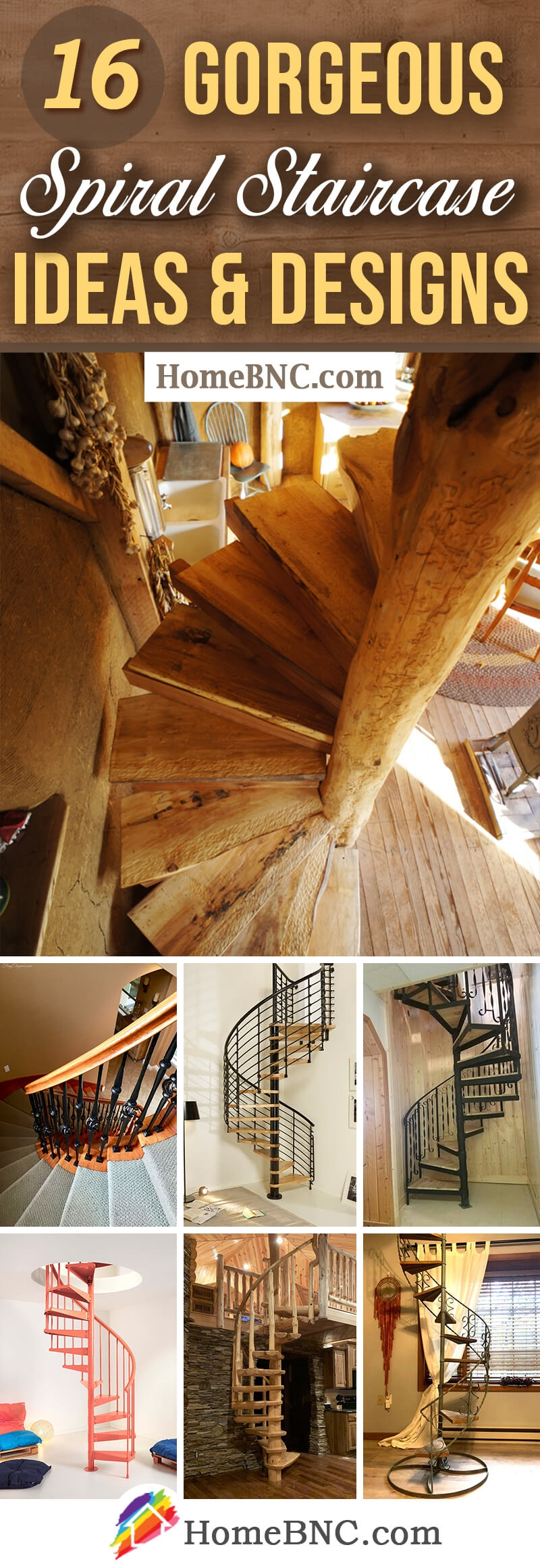 16 Best Spiral Staircase Ideas And Designs For 2020   Wooden Spiral Stairs Design   Different Style   Circular   Curved   Space Saving   Easy Diy