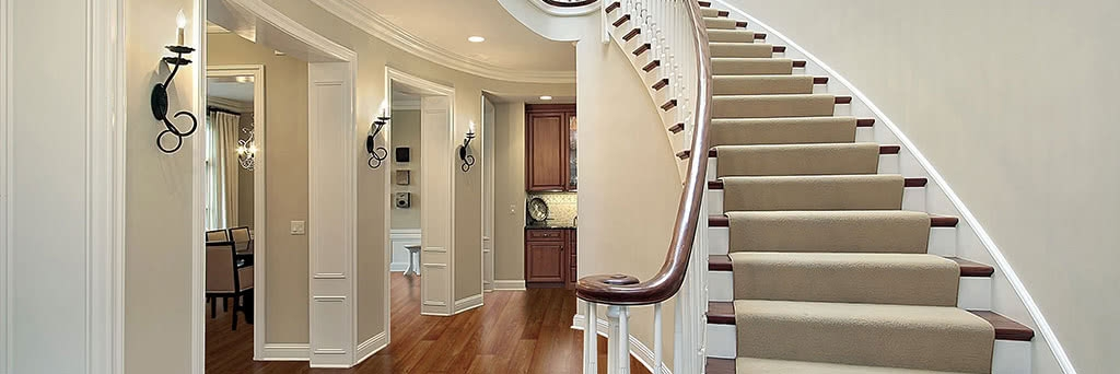 Stair Runners Home Carpet One Chicago | Carpet Stairs Wooden Floor Landing | Oak | Red Striped | Center House | Wall To Wall Carpet | Bedroom