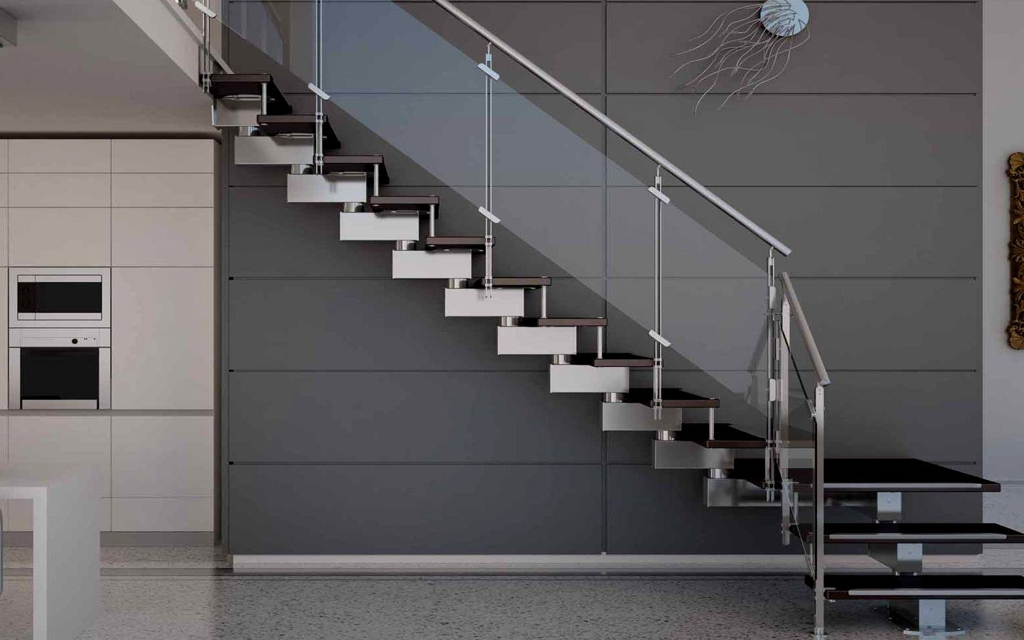 Unique And Modern Designs Of Home Ladders 2020 Photo Gallery | Modern House Ladder Design | Inside Outside | Metal Balustrade | Loft | Outdoor Balcony | Beautiful