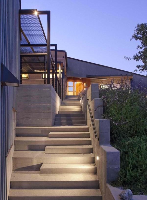 15 Concrete Exterior Staircase Design Home Design Lover | Outdoor Steps Design For House | Deck | Beautiful | Unique Outdoor | Brick | Farm House Wide Front Porch
