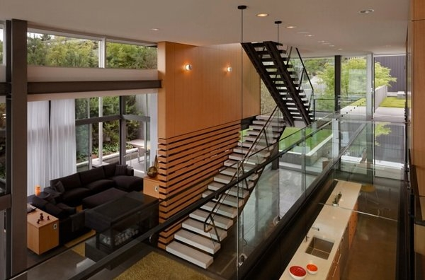 15 Concrete Interior Staircase Designs Home Design Lover | Interior Staircase Design In Main Hall For Duplex House | Residential Stair | Middle Class Village Indian House | View | 16X16 Hall | Beautiful