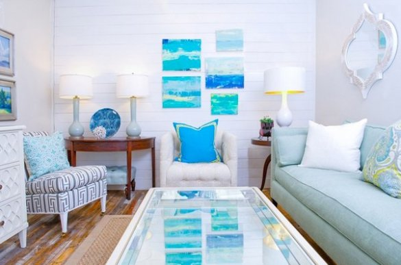 15 Awesome Beachy Living Rooms   Home Design Lover beach themed living rooms