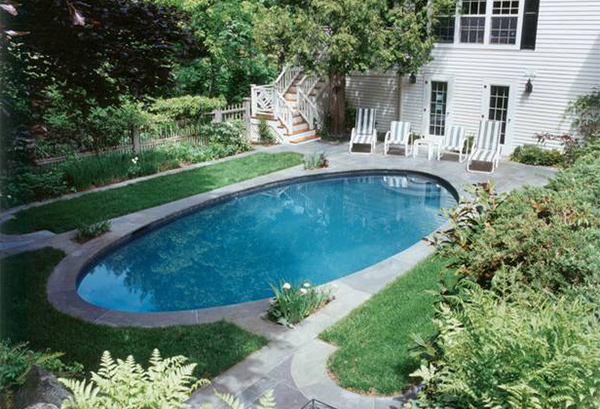 15 Lovely Oval Pool Designs Home Design Lover