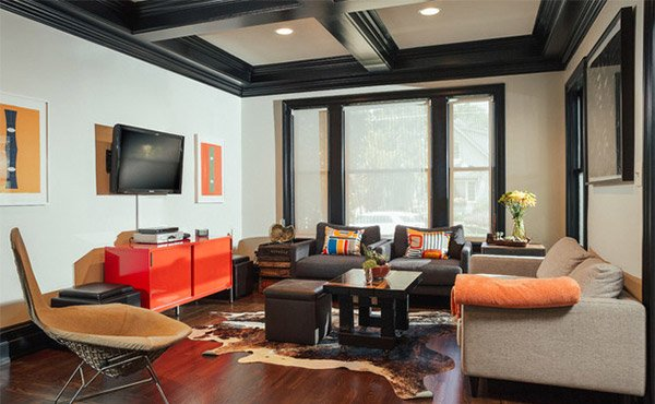 Coffered Ceilings In 15 Contemporary Living Rooms Home