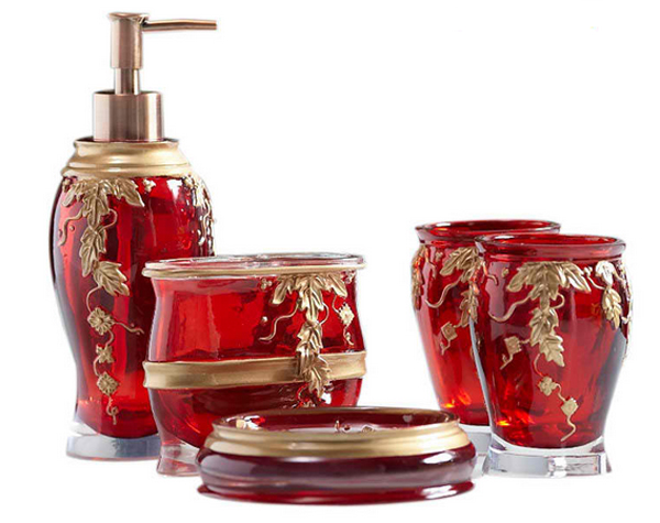 Red Bathroom Accessories