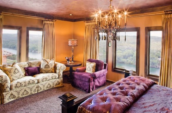 20 Pleasant Purple and Gold Bedrooms   Home Design Lover elegant bedroom designs