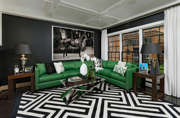 20 Gorgeous Black And Green Living Rooms Home Design Lover