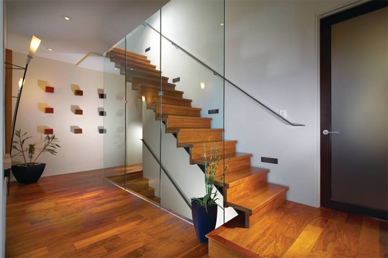 20 Wood And Glass Contemporary Staircase Designs Home Design Lover   Stairs For Homes Designs   Tv Lounge   Fabrication   Creative   Small House   Residential