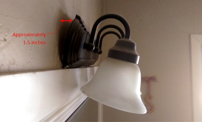 Fix Loose Bathroom Vanity Light Fixture   HomeDIYGeek Loose Hanging Bathroom Light Fixture