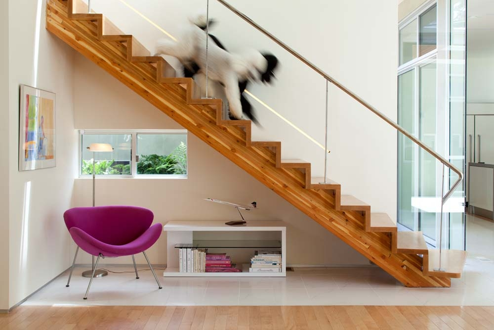 12 Modern Staircases And Railings   Modern Banisters And Handrails   Oak   Minimalist Simple Stair   Modern Style   String   Grey