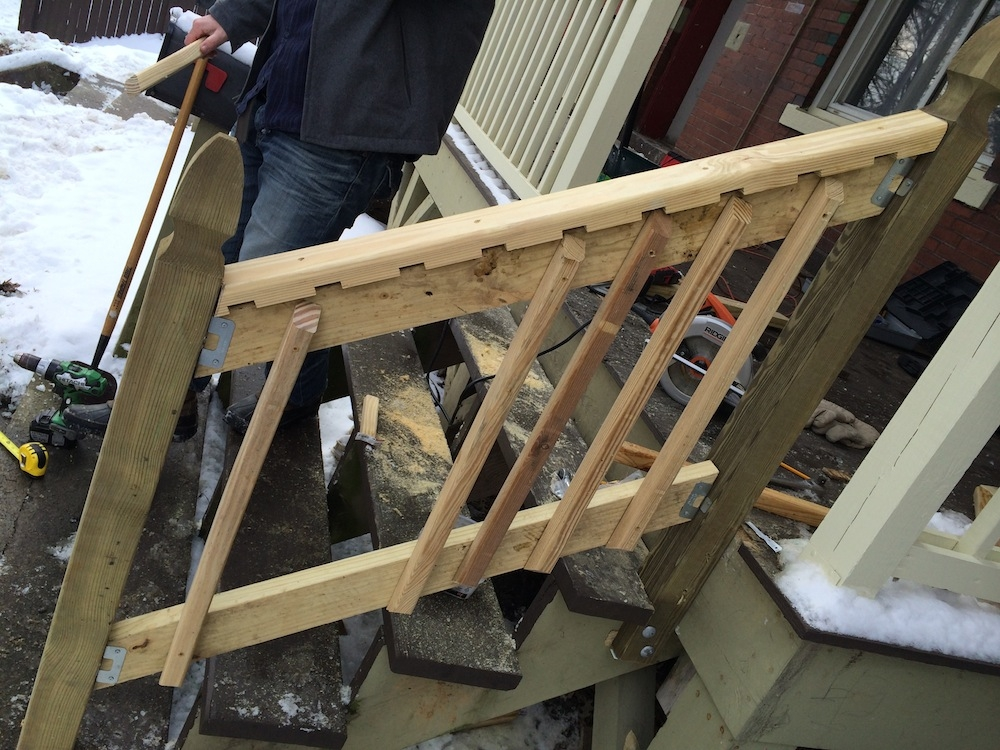 How To Build A Handrail For Your Porch Safer Stairs In 3 Hours | Handrails For Outside Steps | Single Step | Rustic | Aluminum | Front Porch | Walkway