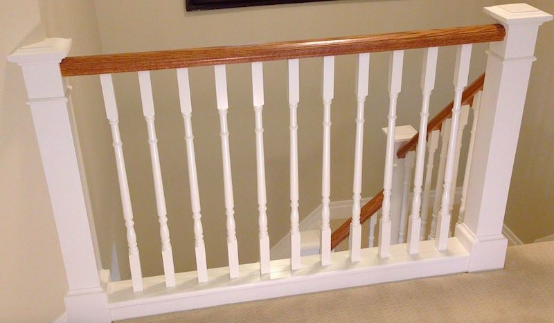 How To Install Stair Spindles Balusters – Home Improvement Woodworking   Stair Rails And Spindles   Dark   Restaining   Modern   Spiral   Glass