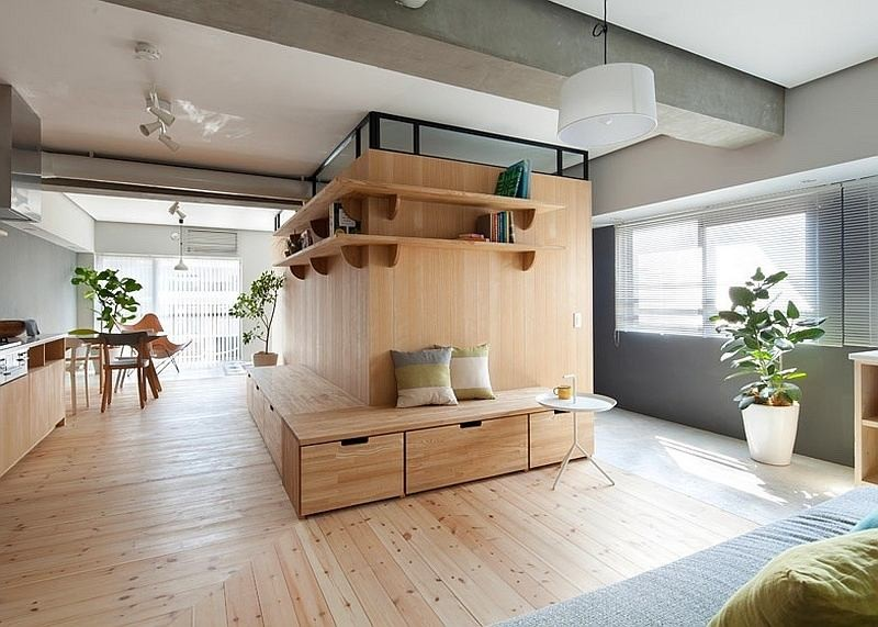 Unusual L Shaped Apartment with No Doors in Japan   Home Interior     Unusual L Shaped Apartment with No Doors in Japan   Home Interior Design   Kitchen and Bathroom Designs  Architecture and Decorating Ideas