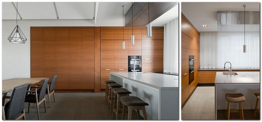 Narrow Kitchen Design Island