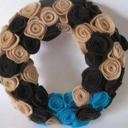 And finally another Felt Rosette Wreath